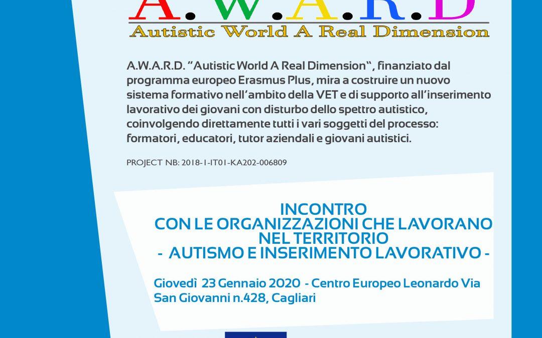 """Progetto A.W.A.R.D: incontro sul tema """"Autismo e inserimento lavorativo"""""""